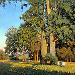 900 Classic russian paintings - ANOKHIN Nicholas - Old oaks