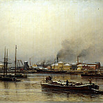Beggrov Alexander - Neva Embankment, 900 Classic russian paintings
