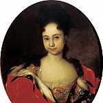900 Classic russian paintings - NIKITIN Ivan - Portrait of Princess Anna Petrovna