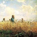 900 Classic russian paintings - Miasoyedov Gregory - the busy time (mowers)