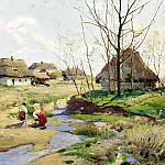 900 Classic russian paintings - Vasilkovsky Sergey - Spring Day in Ukraine