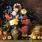 900 Classic russian paintings - Khrutsky Ivan - Flowers and fruits GTG