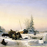 900 Classic russian paintings - Lagorio Lev - Vozka ice