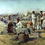 900 Classic russian paintings - Makovsky Vladimir - Fair in Poltava