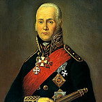 900 Classic russian paintings - Bazhanov Peter - Admiral Fyodor Ushakov