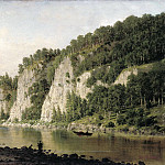 VERESHCHAGIN Peter – Stone write on the river Chusovoi, 900 Classic russian paintings