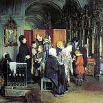 900 Classic russian paintings - KORZUKHIN Alexei - Before Confession