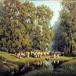 Sukhodolskiy Peter - Whitsunday, 900 Classic russian paintings