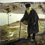 900 Classic russian paintings - Nesterov Mikhail - Hermit