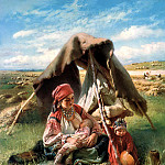 900 Classic russian paintings - MAKOVSKY Constantine - reaper