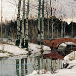 900 Classic russian paintings - Richard Bergholz - Thaw in Gatchina