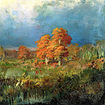 900 Classic russian paintings - Fedor Vasiliev - swamp in the forest. Autumn
