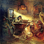 the Christmas divination, Konstantin Makovsky