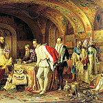 900 Classic russian paintings - Lytovchenko Alexander - Ivan the Terrible shows the treasures of the British Ambassador Horsey
