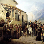 Adolphe CHARLEMAGNE - Field Marshal Alexander Suvorov at the top of the St. Gotthard September 13, 1799, 900 Classic russian paintings