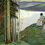 900 Classic russian paintings - Nesterov Mikhail - Chanterelle