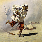 Vereshchagin Vasily - Mortally wounded, 900 Classic russian paintings