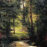 900 Classic russian paintings - Miasoyedov Gregory - Forest Stream. Spring