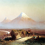 ZANKOVSKY Ilya – In the mountains. View Ararat, 900 Classic russian paintings