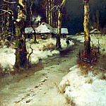 900 Classic russian paintings - Klever Julius - Thaw. 1