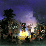 900 Classic russian paintings - SOKOLOV Ivan - Night of Ivan Kupala-
