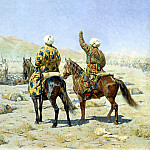 Vereshchagin Vasily - The negotiators. Surrender! - Go to hell!, 900 Classic russian paintings
