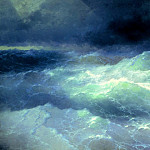 900 Classic russian paintings - Ivan Aivazovsky - Among the Waves