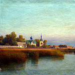 Lagorio Lev - Kind of Town by the river, 900 Classic russian paintings