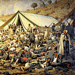 900 Classic russian paintings - Vereshchagin Vasily (Vasilyevich) - Following an attack. Dressing station near Plevna