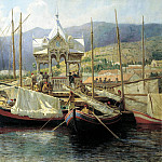 900 Classic russian paintings - Miasoyedov Gregory - Pier in Yalta
