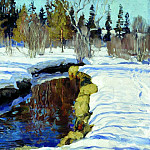 900 Classic russian paintings - Zhukovsky Stanislav - Winter