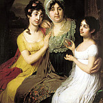 900 Classic russian paintings - Borovikovsky Vladimir - Portrait of Countess Anna Ivanovna Bezborodko with their daughters with love and Cleopatra
