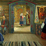 Miloradovich Sergey - Do confessor, 900 Classic russian paintings