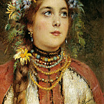 900 Classic russian paintings - MAKOVSKY Konstantin - Russian Beauty