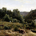 900 Classic russian paintings - Shishkin Ivan - the monastery