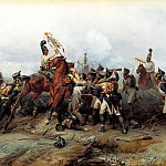Villevalde Bogdan - Feat cavalry regiment in the battle of Austerlitz in 1805, 900 Classic russian paintings