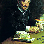 Ilya Repin – Portrait of Ivan Sechenov, 900 Classic russian paintings