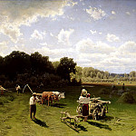 SERGEEV Nick - haymaking, 900 Classic russian paintings
