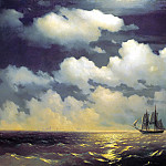 900 Classic russian paintings - Aivazovsky, Ivan - Brig Mercury meets russian squadron after win a victory over two turkish ships 1848