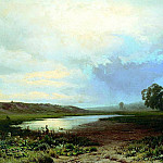 Fedor Vasiliev – Wet meadow, 900 Classic russian paintings