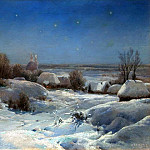 900 Classic russian paintings - Welz Ivan - Ukrainian night. Winter