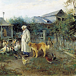 900 Classic russian paintings - Alexei Stepanov - Morning greetings
