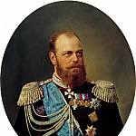 Schilder Andrew - Portrait of Alexander III, 900 Classic russian paintings