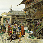 Vasnetsov Apollinary - The yard of the local prince, 900 Classic russian paintings