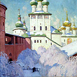 900 Classic russian paintings - Goryushkin-Sorokopudov Ivan - Winter. Rostov Kremlin