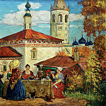 Kustodiyev Boris – In the old Suzdal, 900 Classic russian paintings