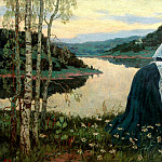 Nesterov Mikhail - Girls on the shore, 900 Classic russian paintings