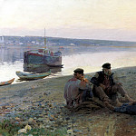 900 Classic russian paintings - CORINE Alexei - Boatmen