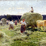 Pimonenko Nick - haymaking, 900 Classic russian paintings
