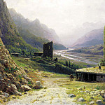 Lagorio Lev – Caucasus Gorge, 900 Classic russian paintings